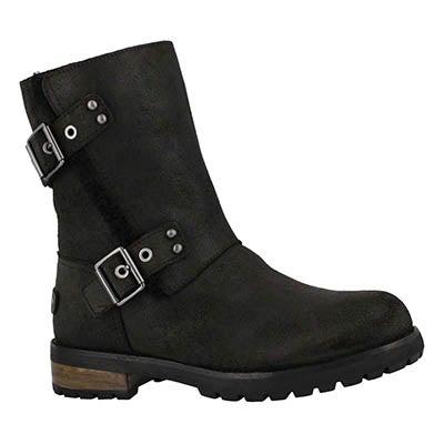 Lds Niels II black zip up ankle boot