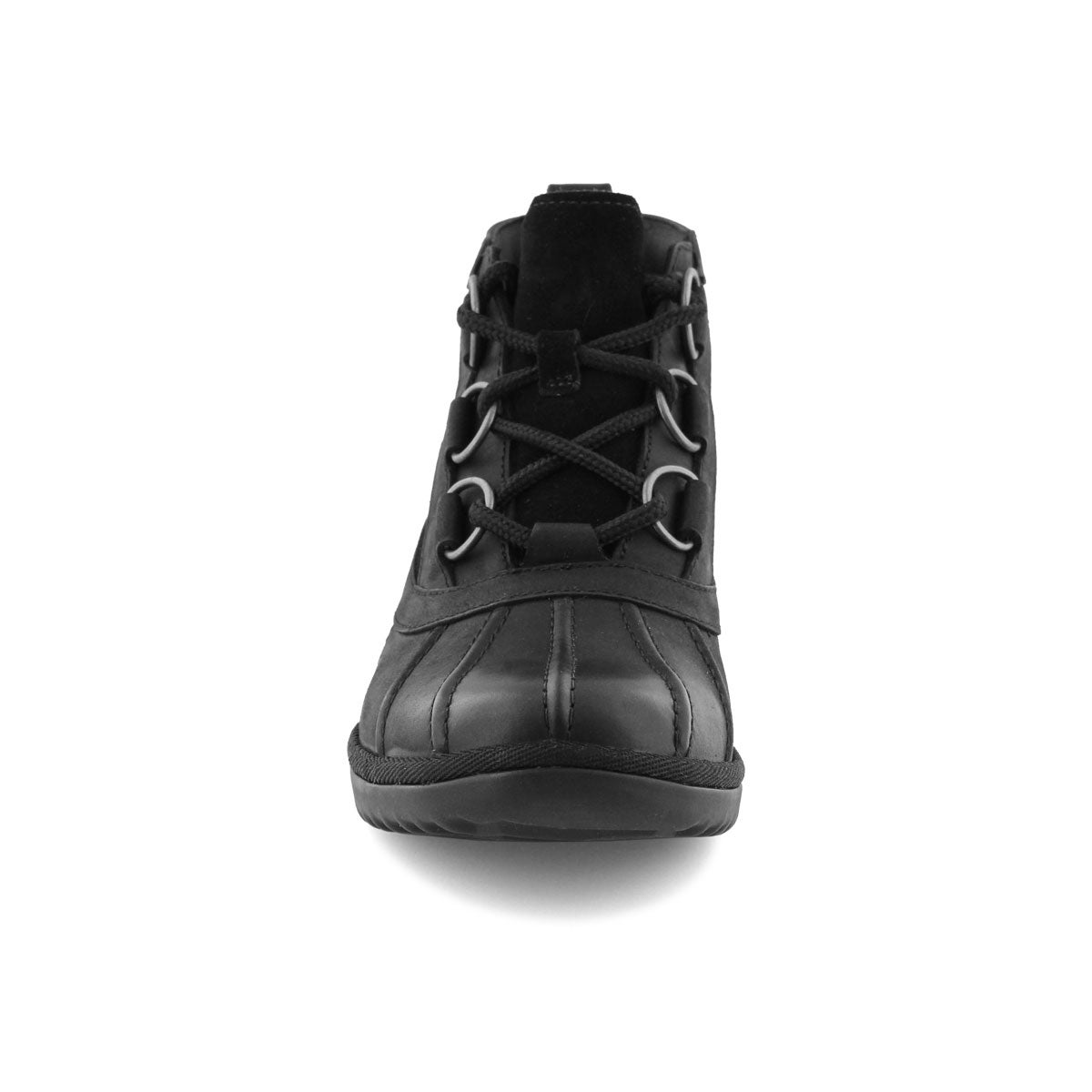 Lds Heather black lace up wtpf duckie