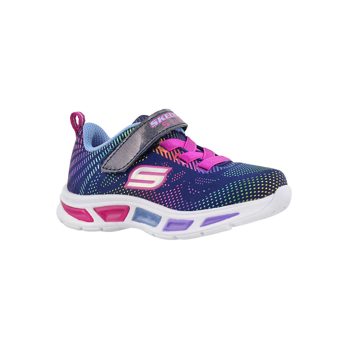 Infants' LITEBEAMS navy/multi lightup sneakers