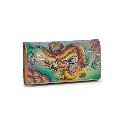 Printed leather Imperial Dragon wallet