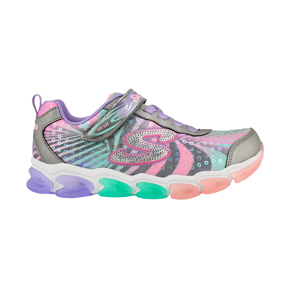 Grls Jelly Beams multi lightup sneaker