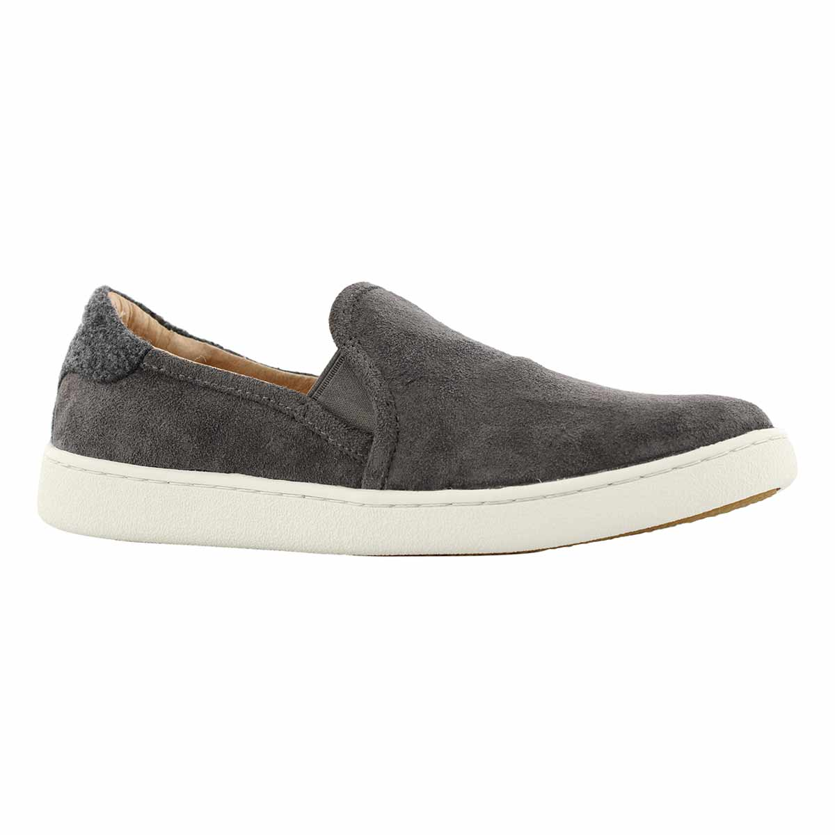 Lds Cas charcoal casual slip on shoe