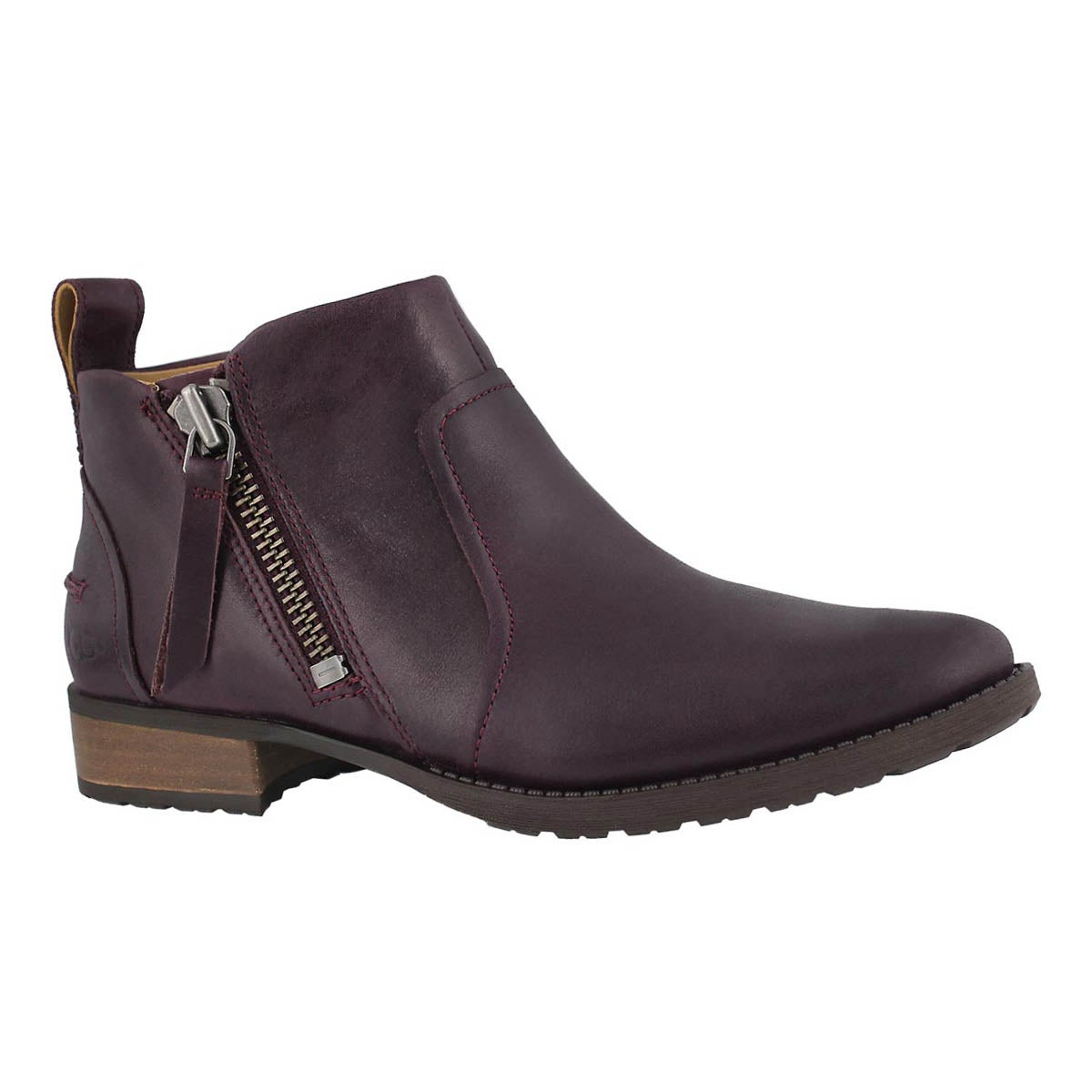 df109c04b19 Women's AUREO oxblood leather side zip bootie