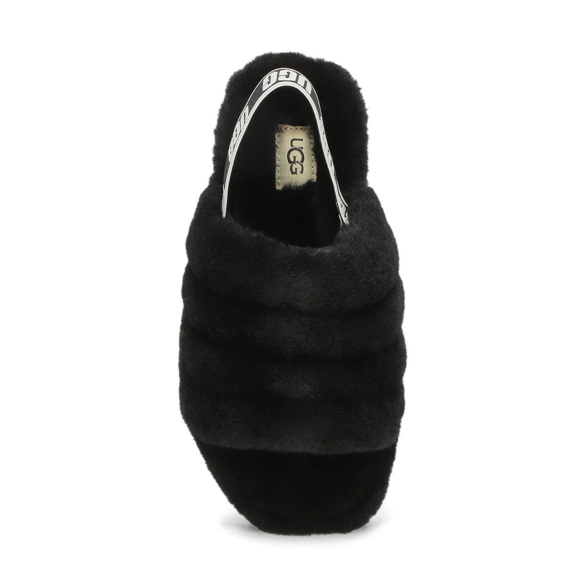 Grls Fluff Yeah black sheepskin slipper