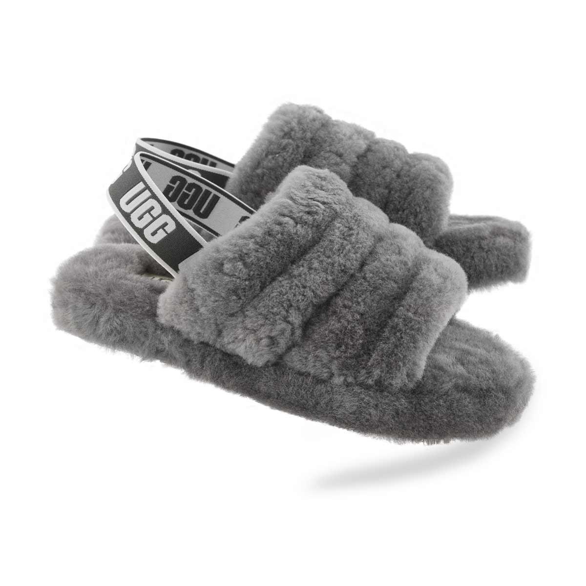 Grls Fluff Yeah char sheepskin slipper
