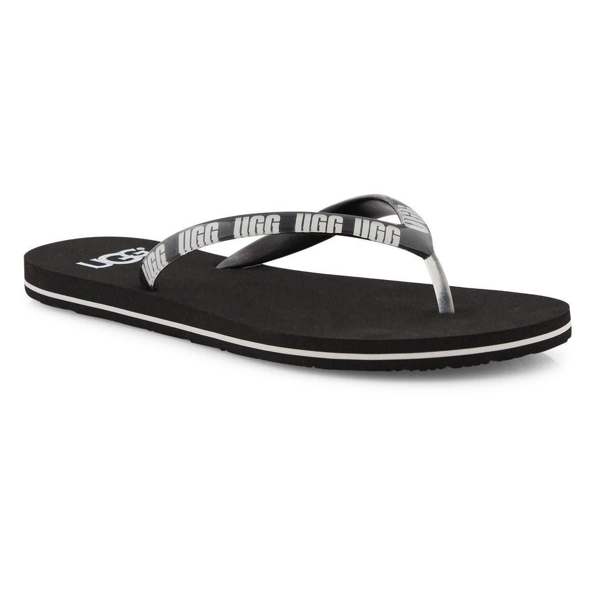 Lds Simi Graphic black thong sandal