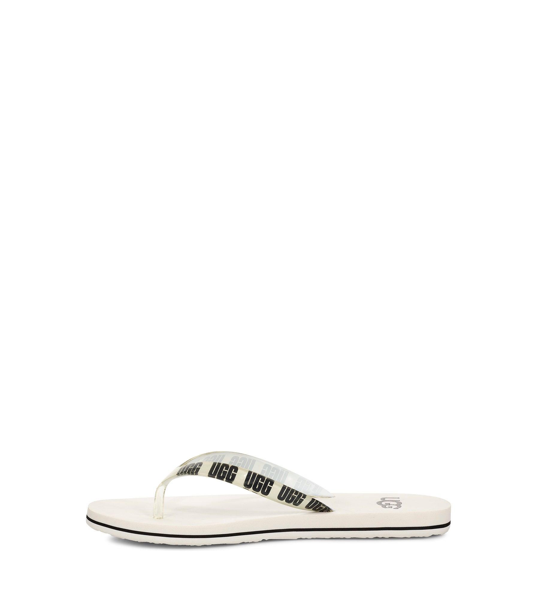 Lds Simi Graphic white thong sandal