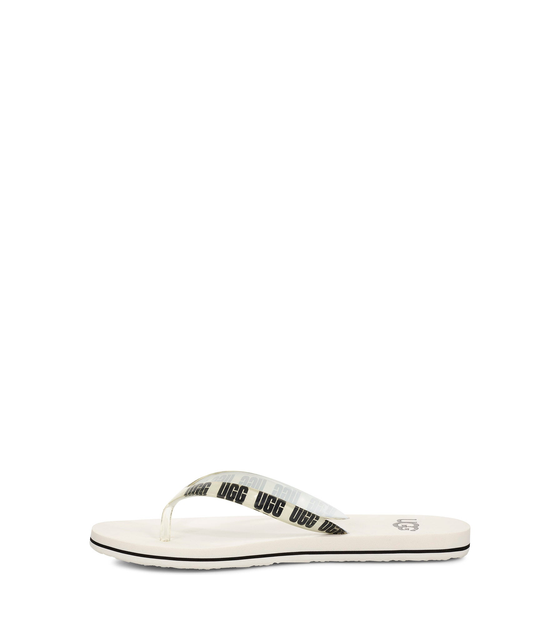 Lds Simi Graphic white thong sandal