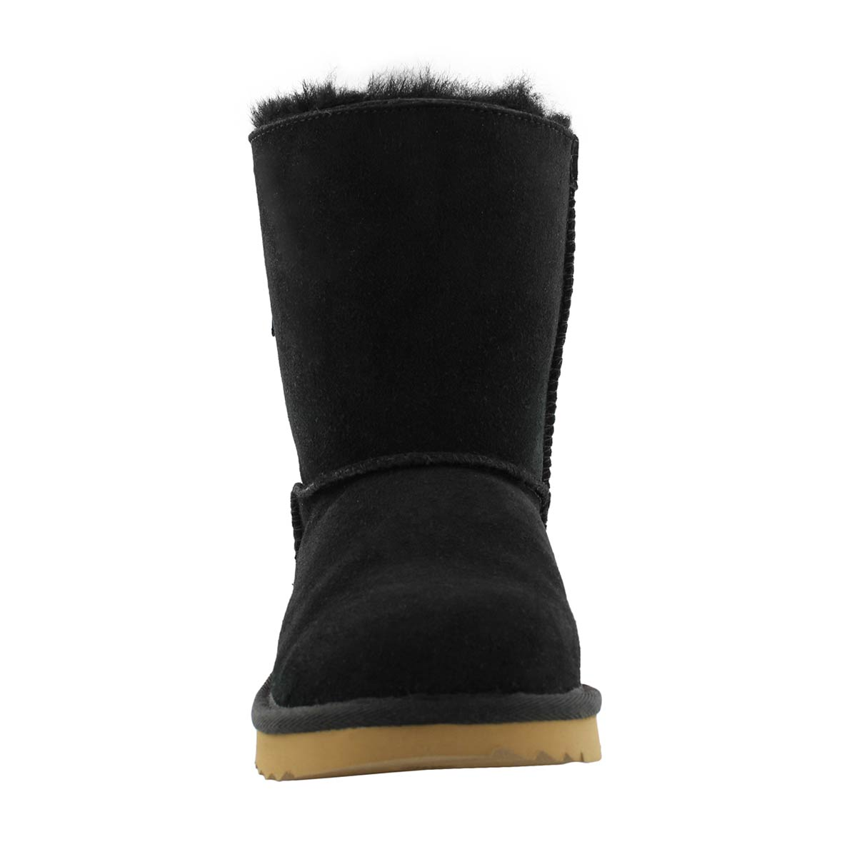 Grls Custom BaileyBow II blk shpskn boot