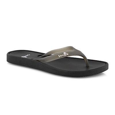 Lds Sidewalker black flip flop