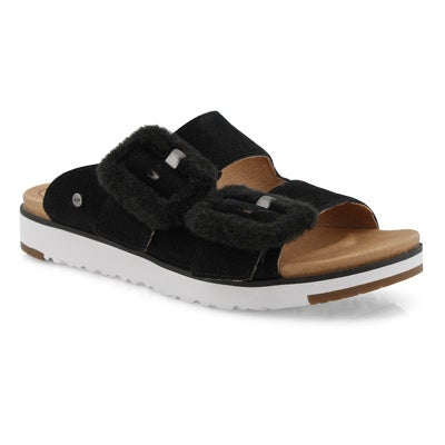 Lds Fluff Indio black casual slide sndl