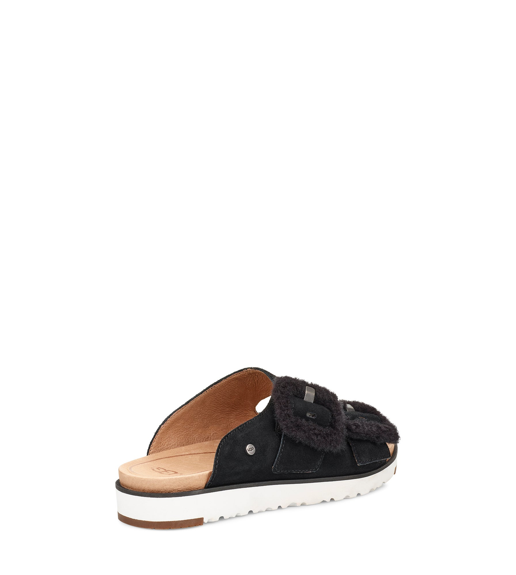 Sandale à enfiler Fluff Indio, noir, fem