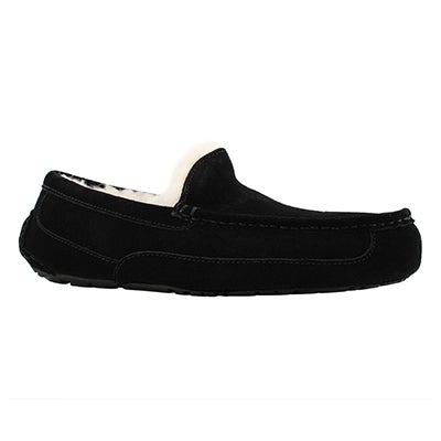 Mns Ascot black sheepskin slipper