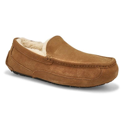Mns Ascot chestnut sheepskin slipper