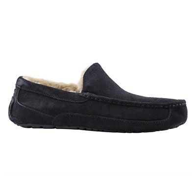 Mns Ascot true navy sheepskin slipper