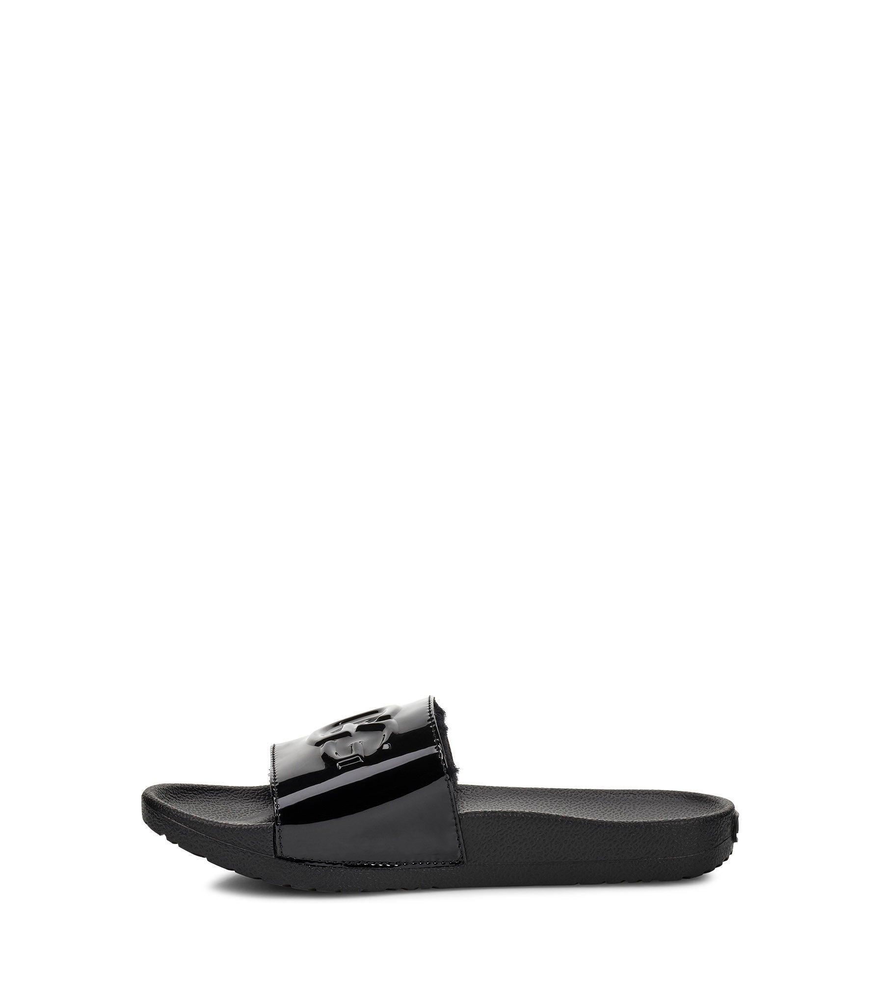 Lds Royale Graphic Metallic blk sandal