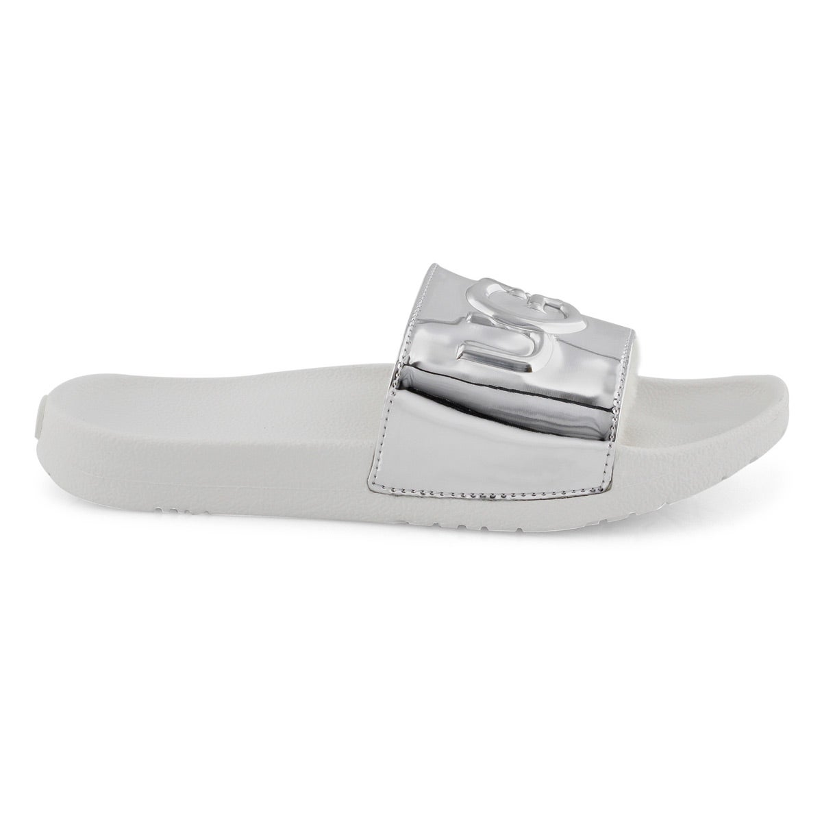 b2d055aaa76 Women's ROYALE GRAPHIC METALLIC silver sandals