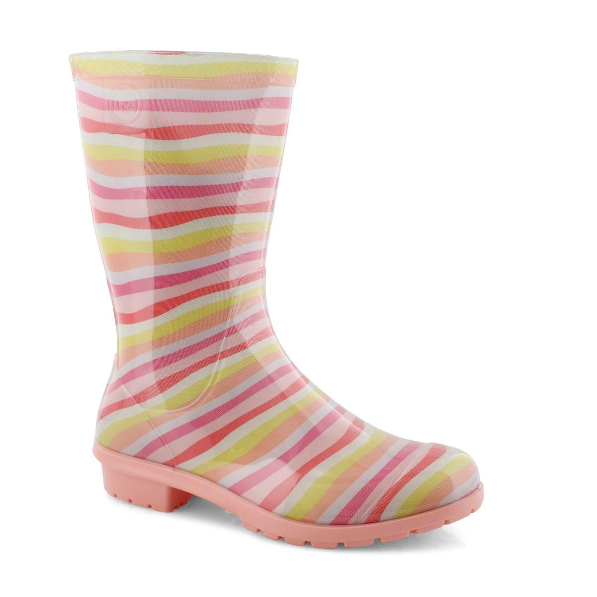 Grls Raana Mural rainbow wtpf rain boot