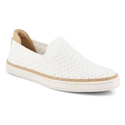 Lds Sammy Chevron wht casual slip on