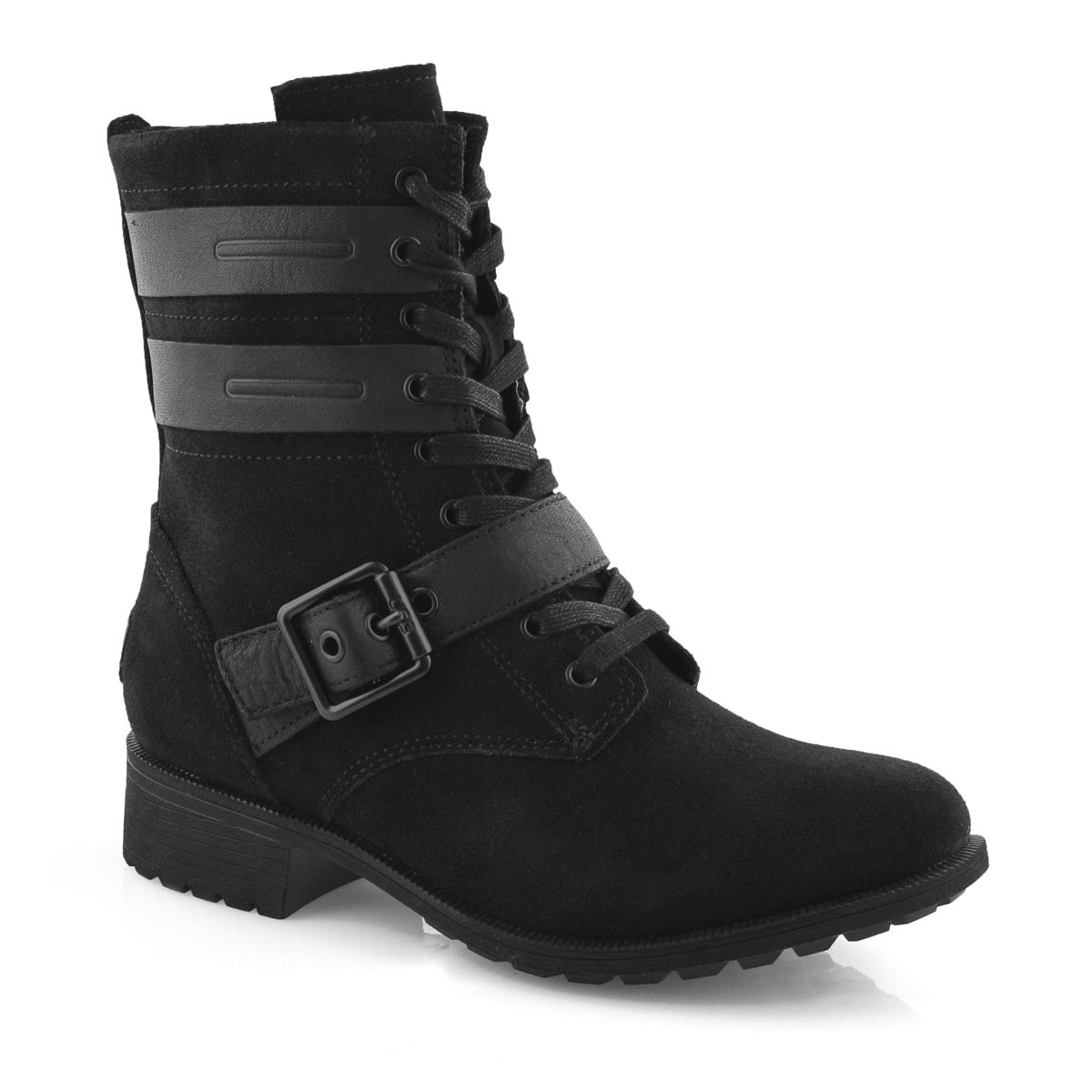 Lds Zia black lace up wtpf boot