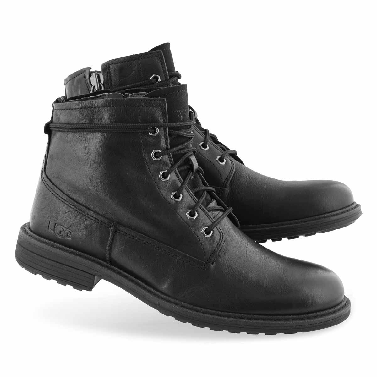 Mns Morrison black lace up ankle boot