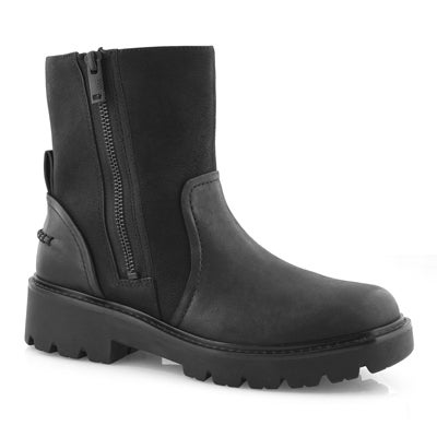 Lds Polk black side zip ankle boot