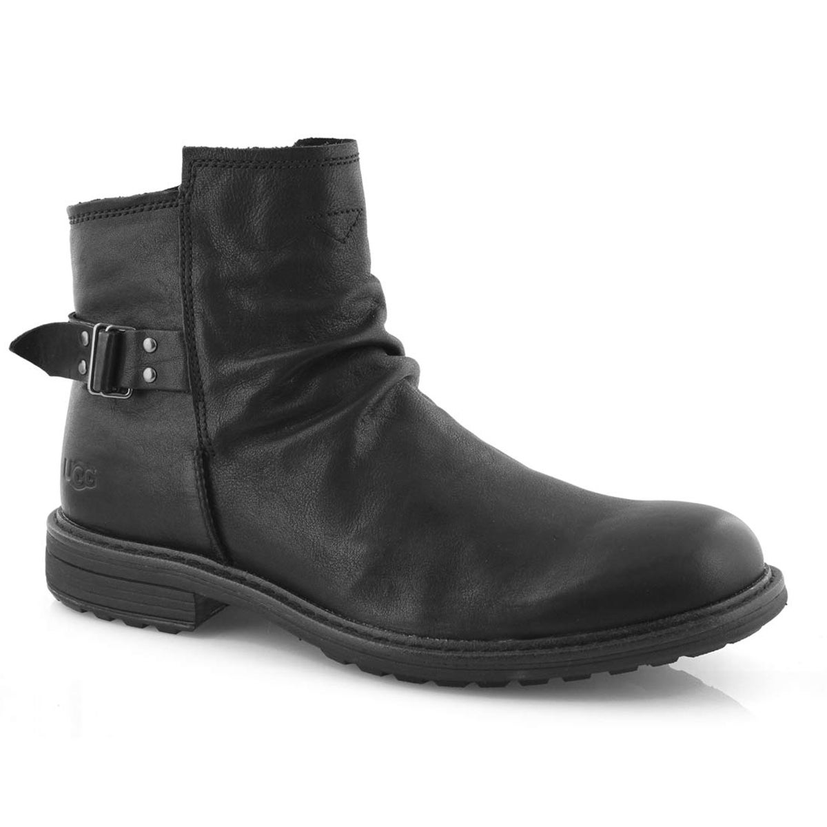 Mns Morrison black pull on ankle boot