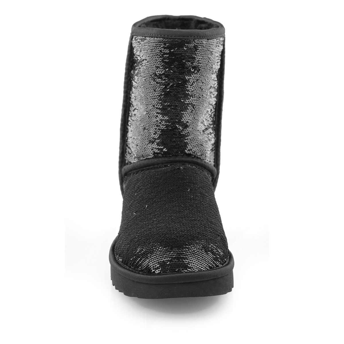 Lds Classic Short Cosmos Sequin blk boot