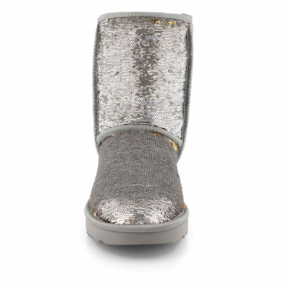 Lds Classic Short Cosmos Sequin slv boot
