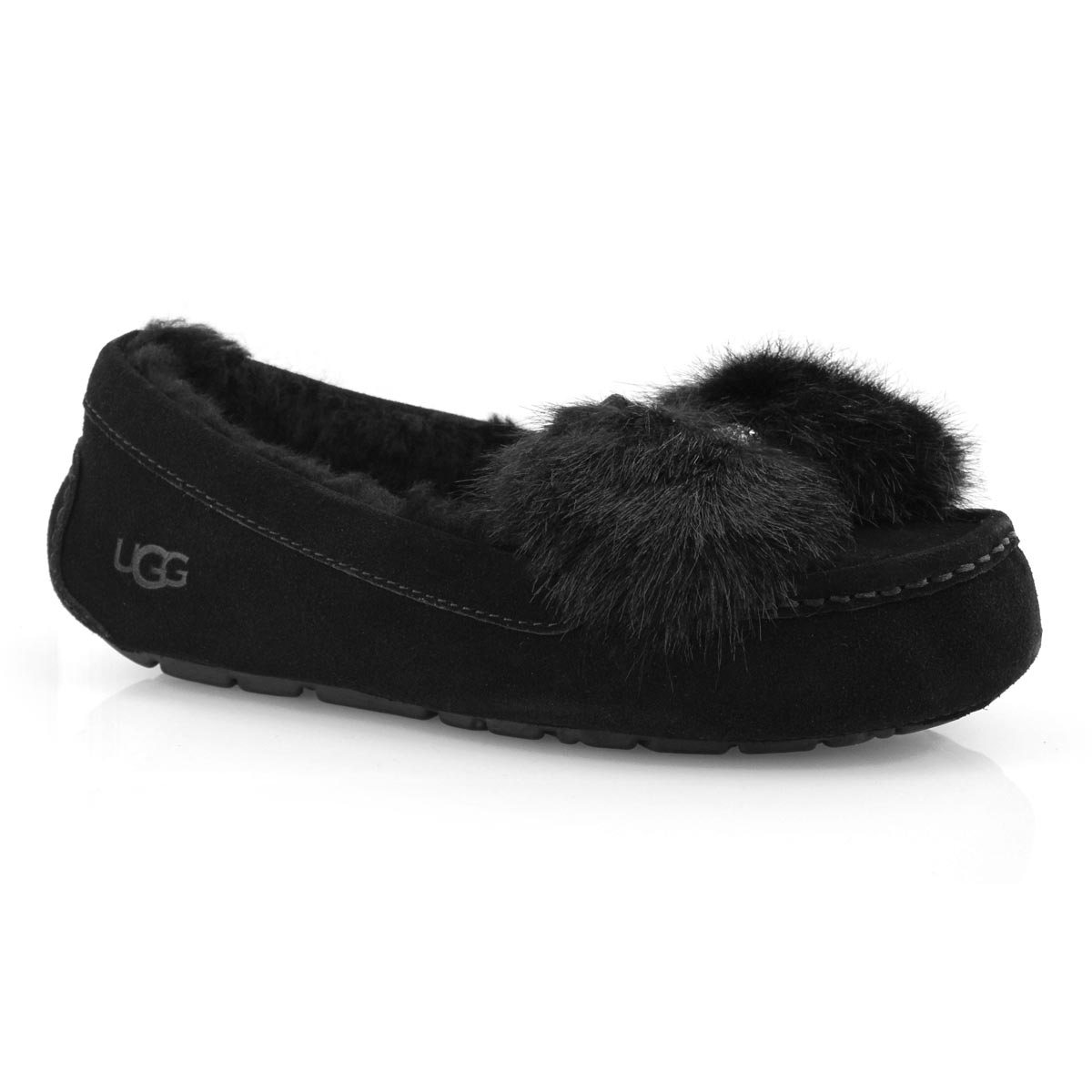 Lds Ansley Puff Bow black moccasin