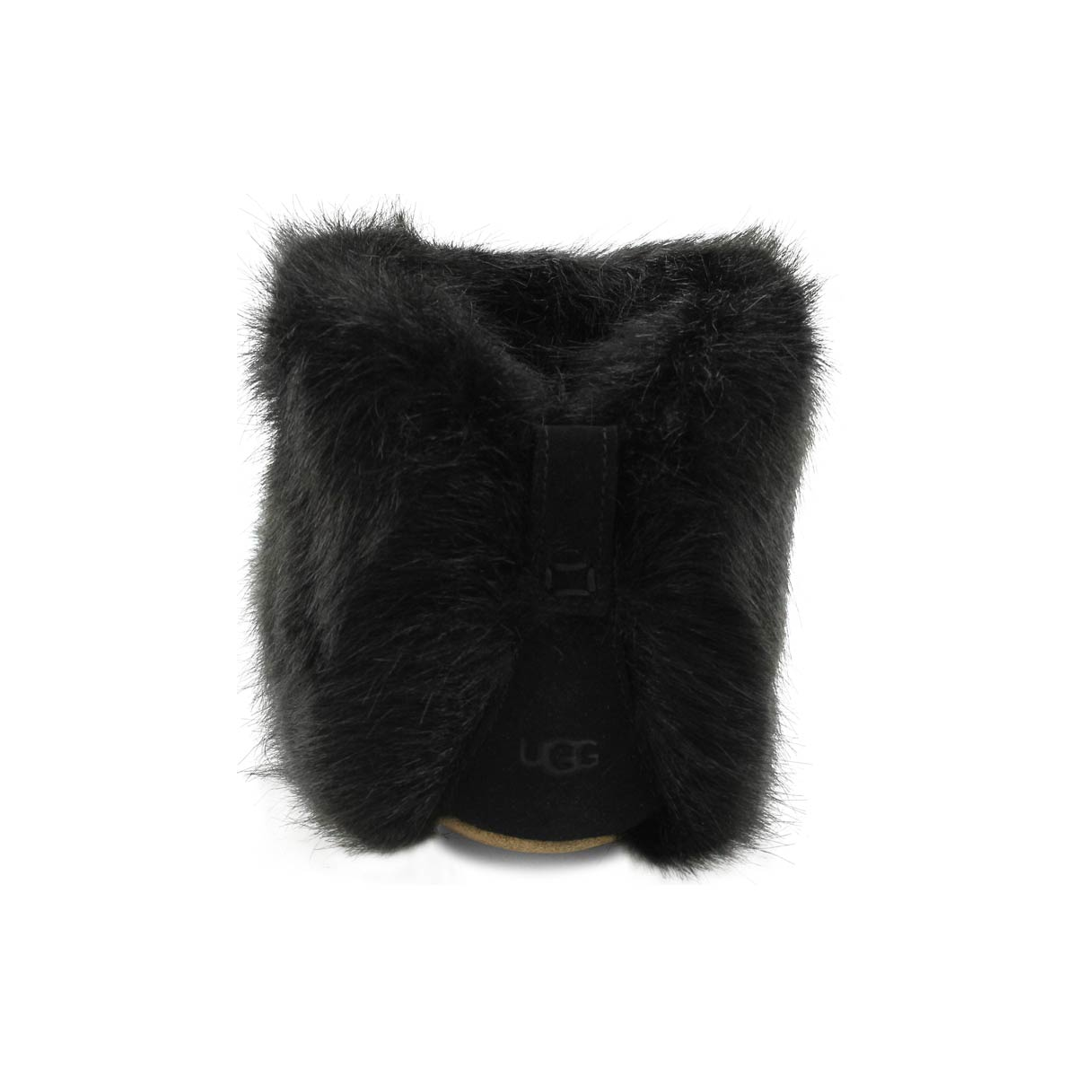 Lds Amary black bootie slipper