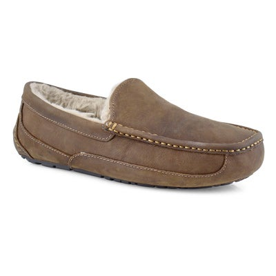 Mns Ascot tan sheepskin slipper