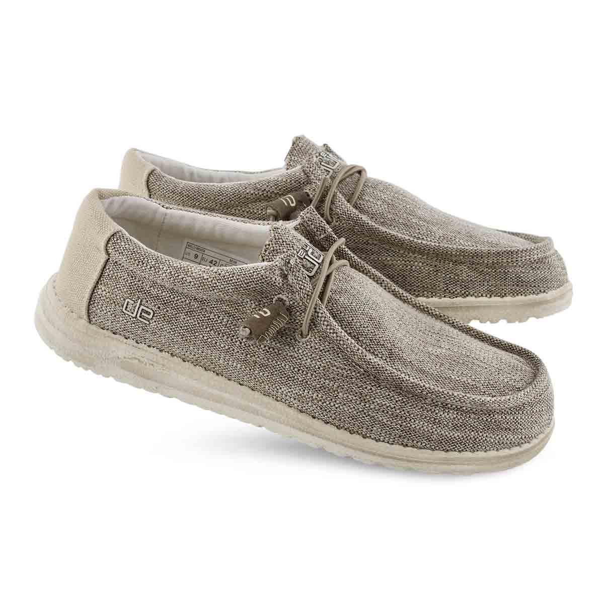 Mns Wally Woven beige casual shoe