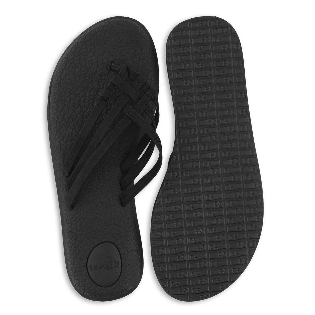 Lds Yoga Salty black flip flop