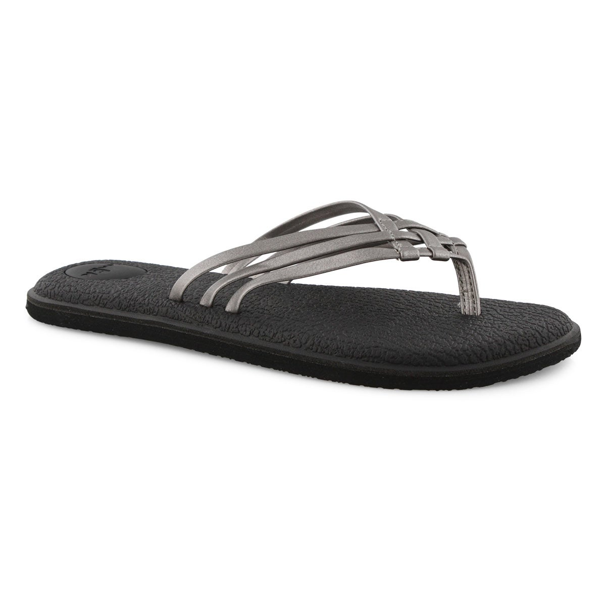 Lds Yoga Salty Metallic pwtr flip flop