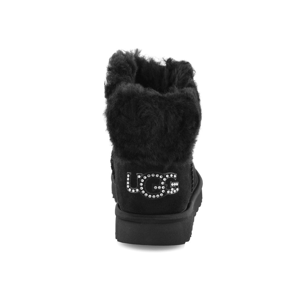 Lds Classic Bling Mini blk shpskn boot