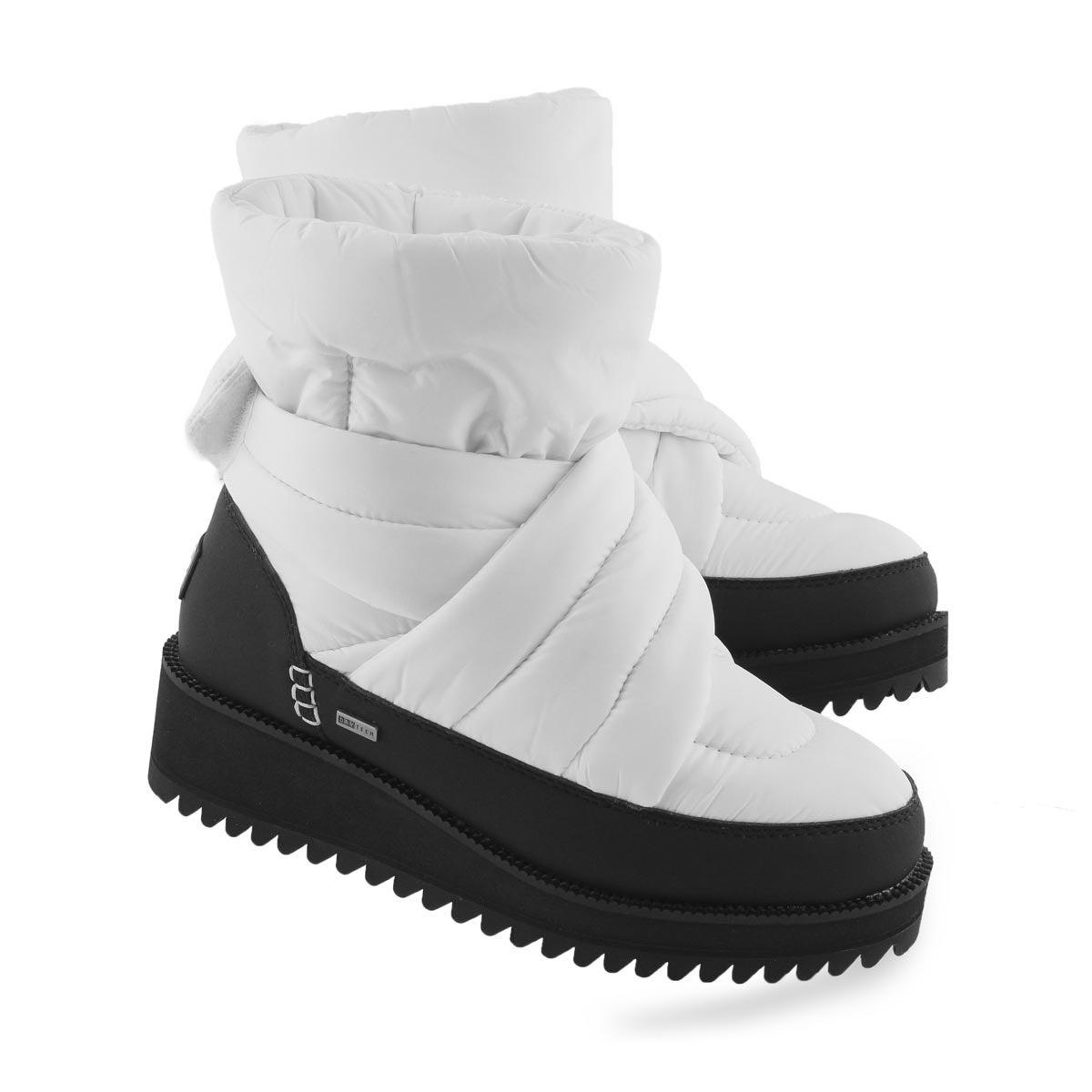 Lds Montara white slip on winter boot