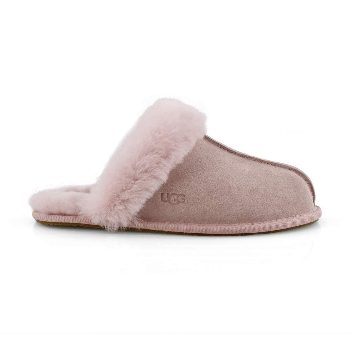Lds Scuffette II pink sheepskin slipper