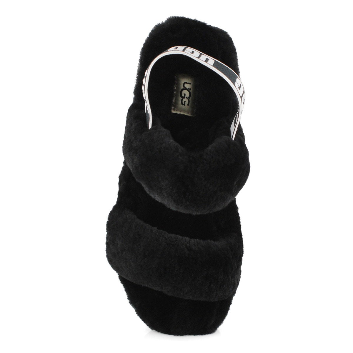 Lds Oh Yeah black sheepskin slipper