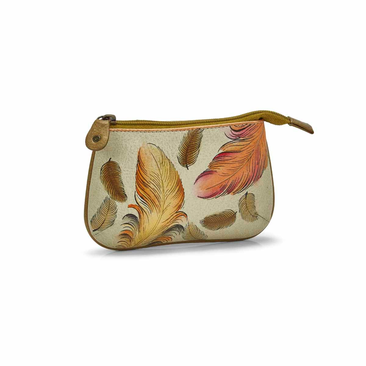 Women's FLOATING FEATHER coin purse