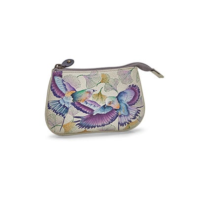 Printed lthr Wings Of Hope coin purse