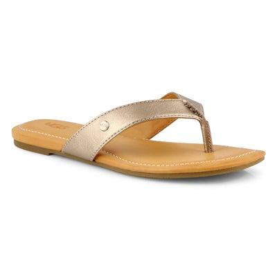 Lds Tuolumne light bronze thong sandal