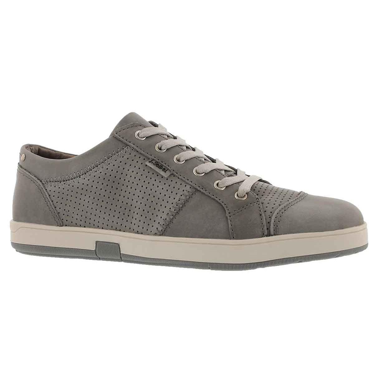 Men's GATTEO 01 asphalt leather lace up sneakers