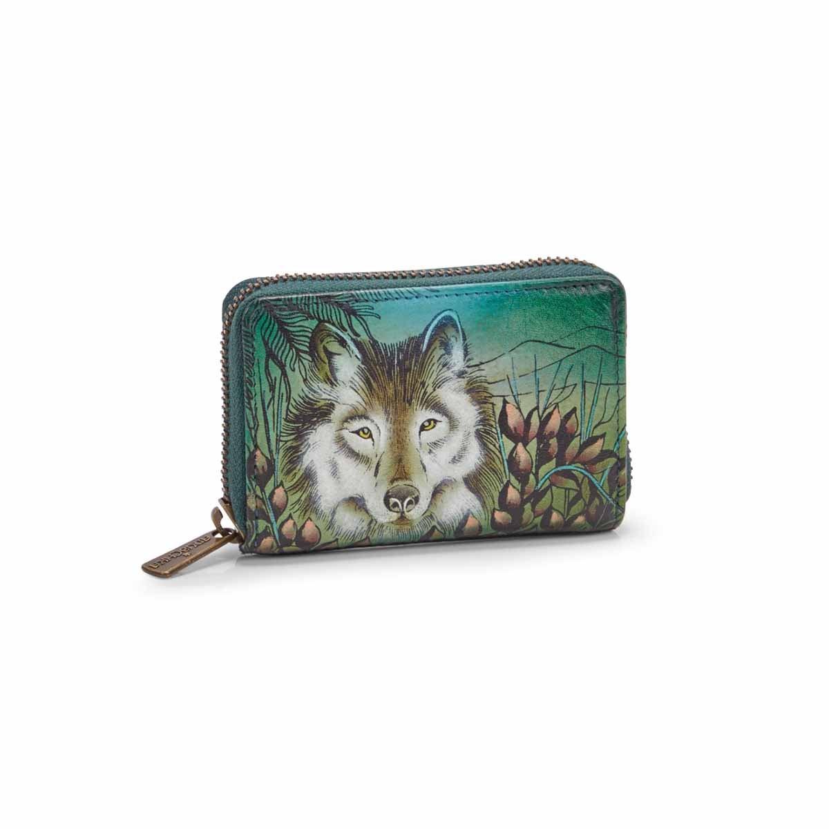 Women's WESTERN WOLF card holder