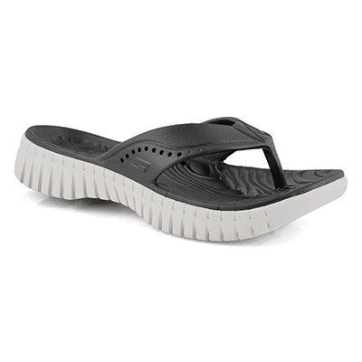 Lds Go Walk Smart blk/wht thong sandal