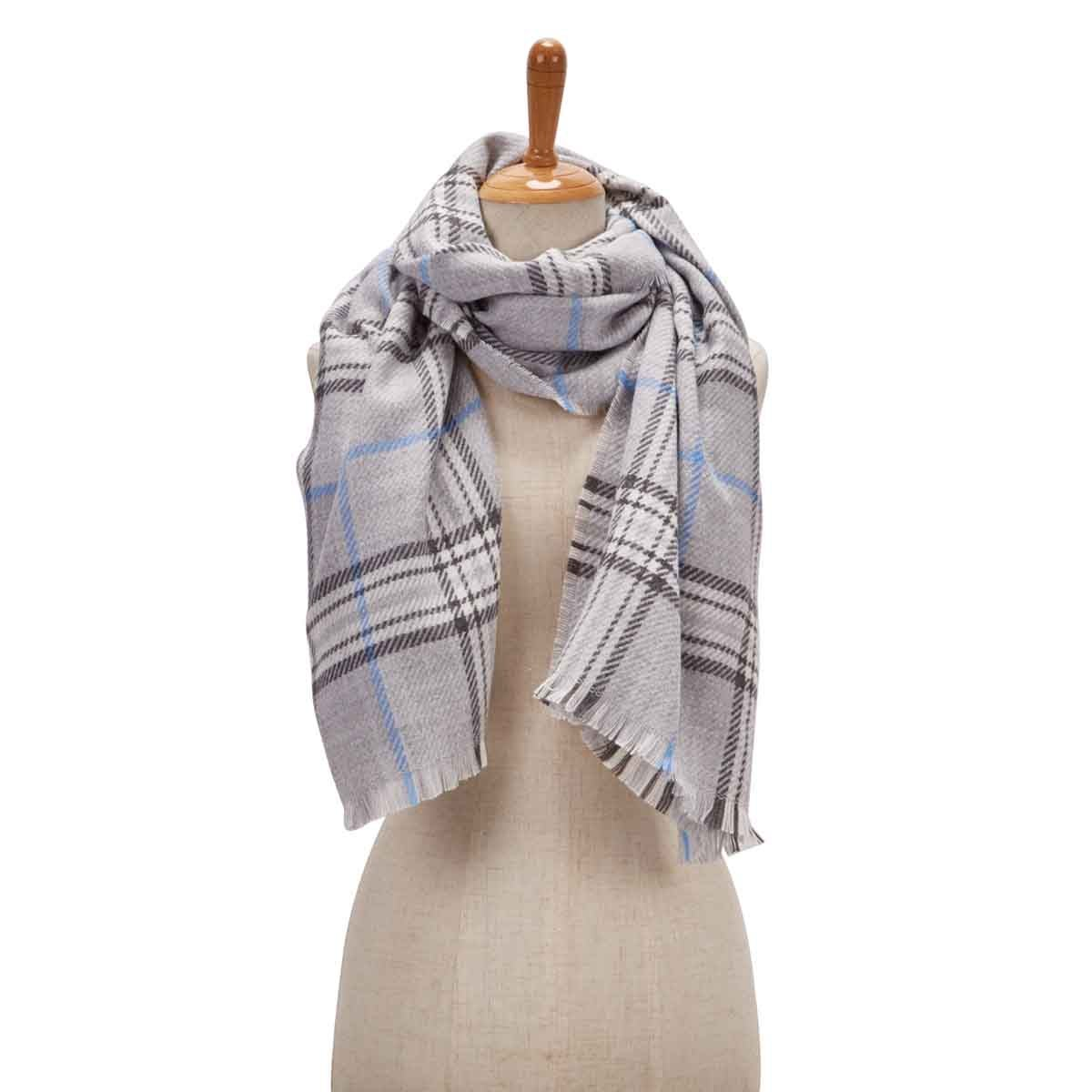 Women's FRAAS PLAID silver scarf