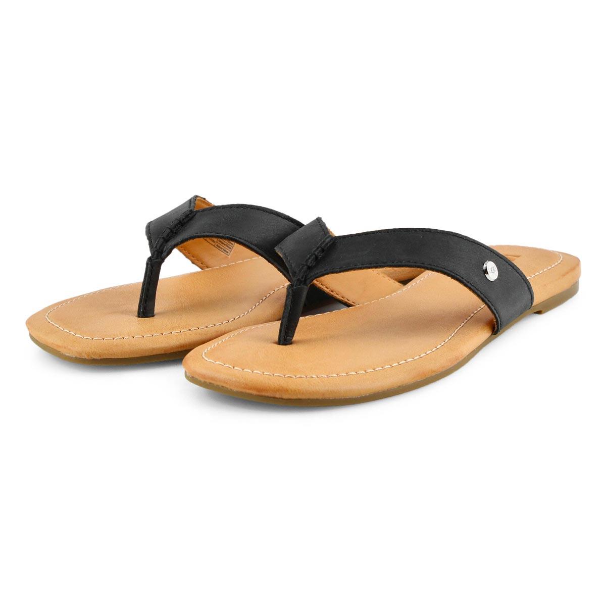 Lds Tuolumne black thong sandal