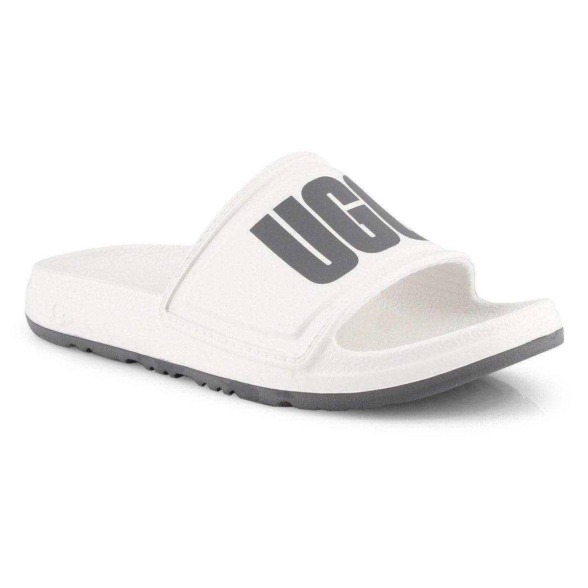 Lds Wilcox white slide sandal