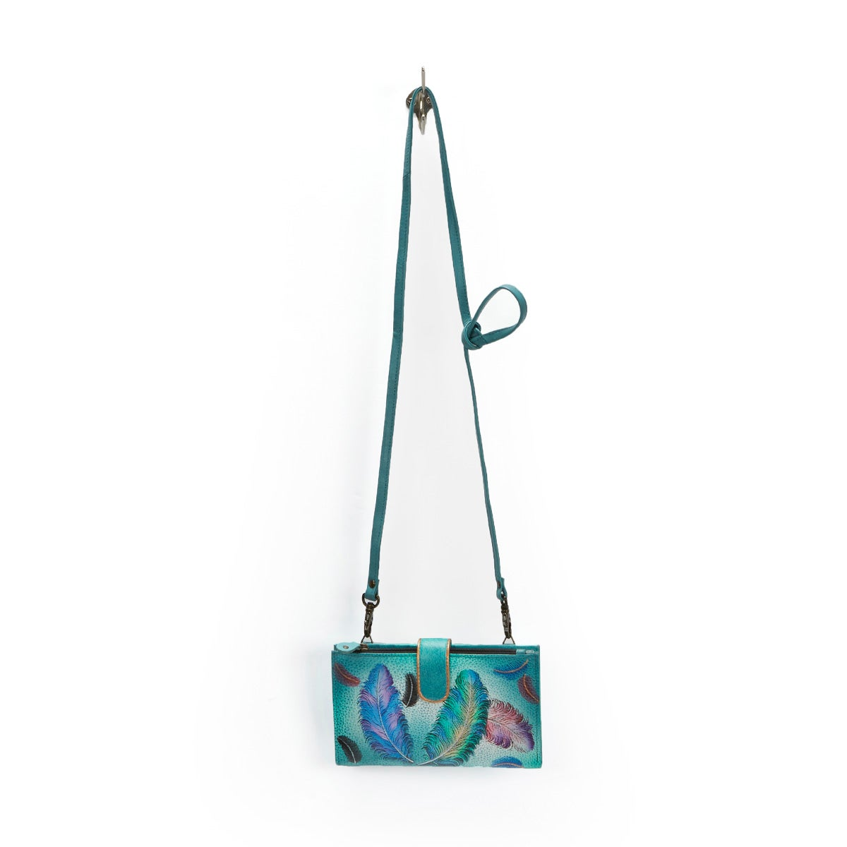 Painted Floating Feathers phncse/wallet