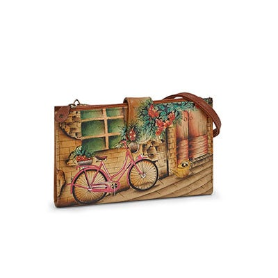 Anuschka Women's VINTAGE BIKE phonecase/wallet
